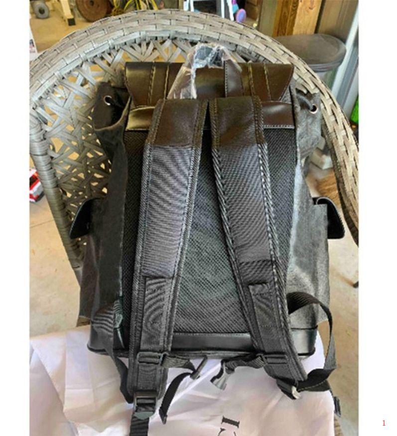 Hakiki Deri Çift Omuz Çantaları Sırt Çantası Erkekler Ve Kadınlar için Mükemmel Kalite Okul Çantaları Lüks Tasarımcı C0PY Sırt Çantası WXJ32105