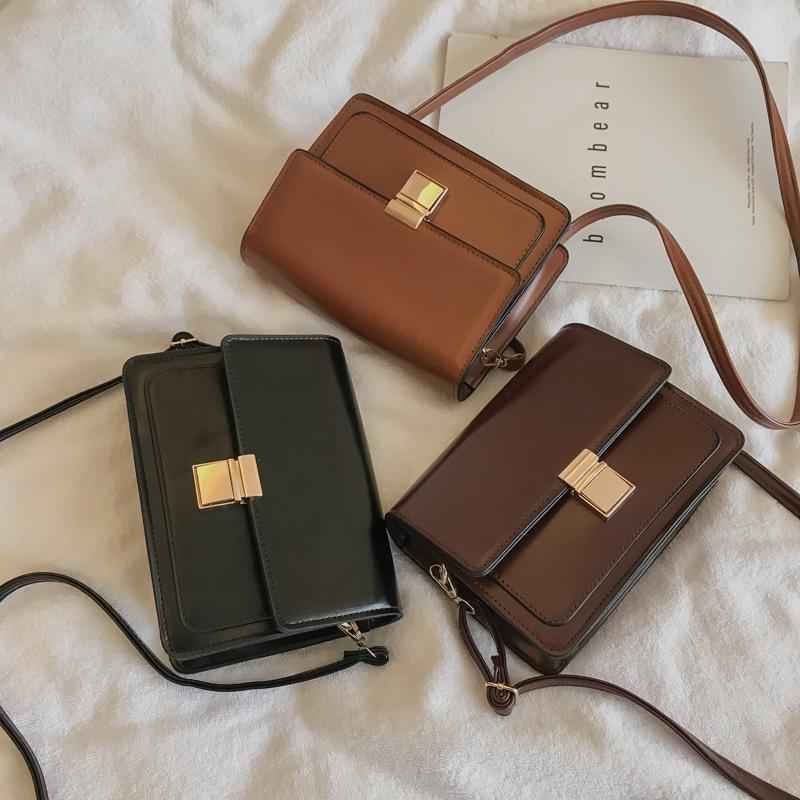 HBP Small bag female new net red black bag quality wild writing shoulder bag Korean fashion Messenger