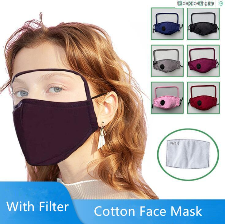 Factory39K7Kotton Gesicht Klarmasken Atemventil Bildschirm PM2.5 Schild Anti-Dust-Gewebe Waschbare Kinder Cartoon-Maske mit Filter DHB181