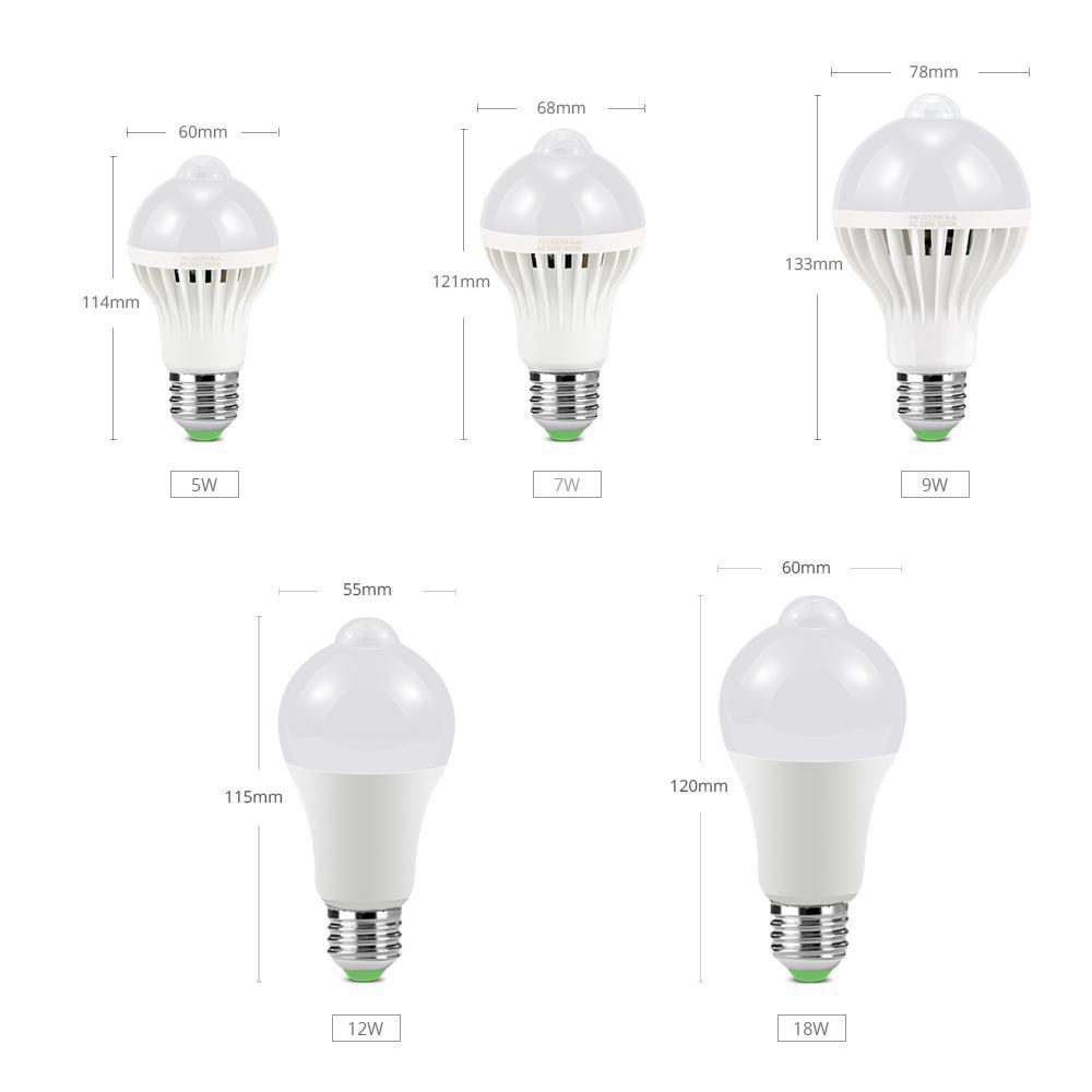 cozinha 220V Sensor de movimento LED Sensor de Som gabinete lâmpada quarto luz guarda-roupa iluminacion lâmpada 5W 7W 9W 12W