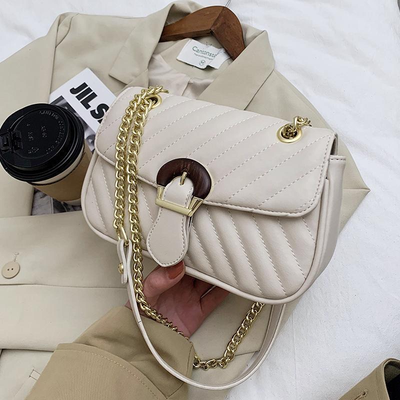 Bordado Messenger Crossbody Bolsa Cadena Bolso Nuevo Bolso de moda para mujer de cuero 2021 de cuero Hombro PU cuadrado Kufcf