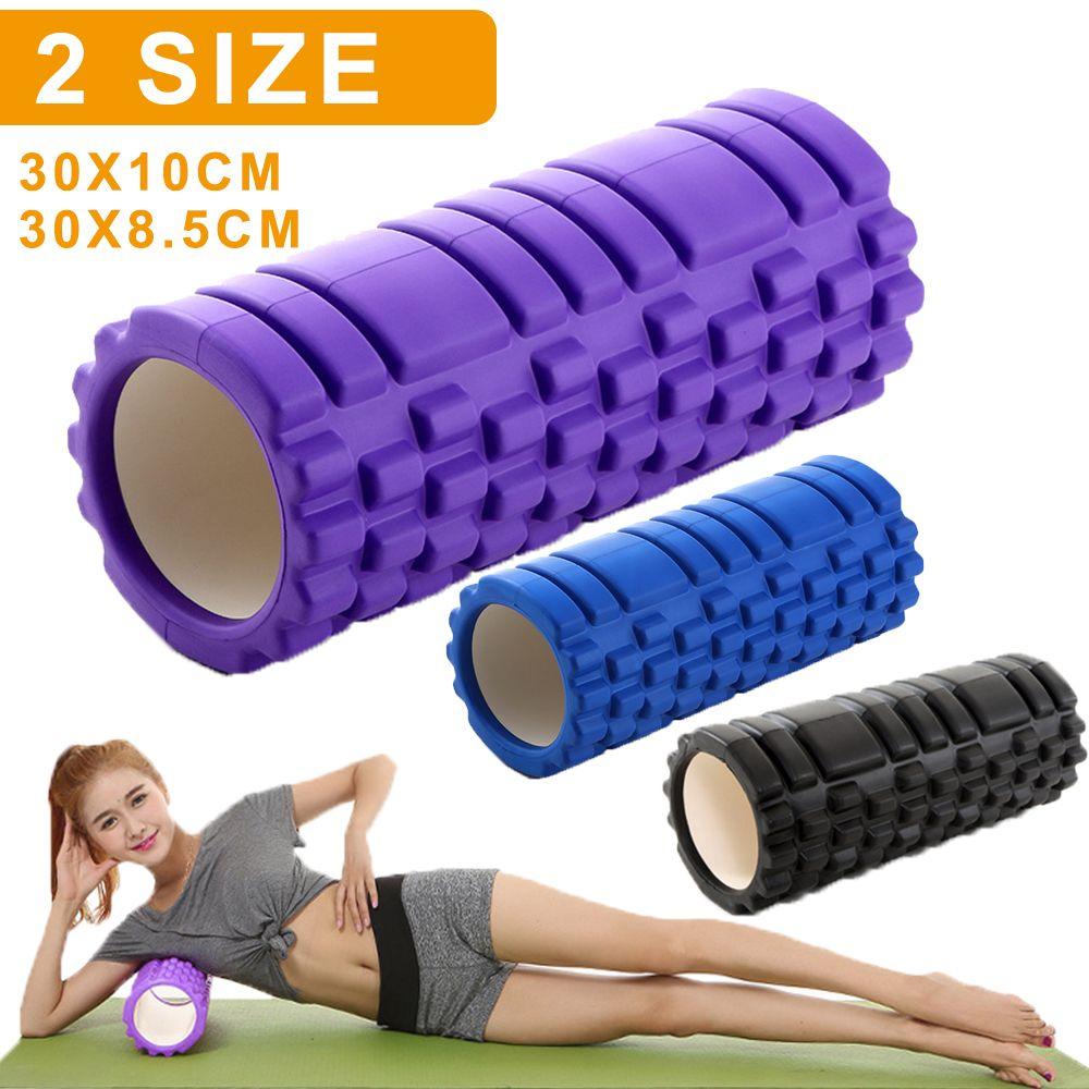 Yoga Column Fitness Pilates Yoga Foam 2 Sizes Gym Training Roller Blocks Grid PVAMassage Trigger Point Therapy Physio Exercise