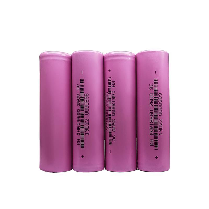 KH Sertifikalı ICR 18650 3.7 Volt 2600mAh 3C Lityum Li İyon Elektrikli Süpürge İçin Şarj Edilebilir Pil Hücreleri