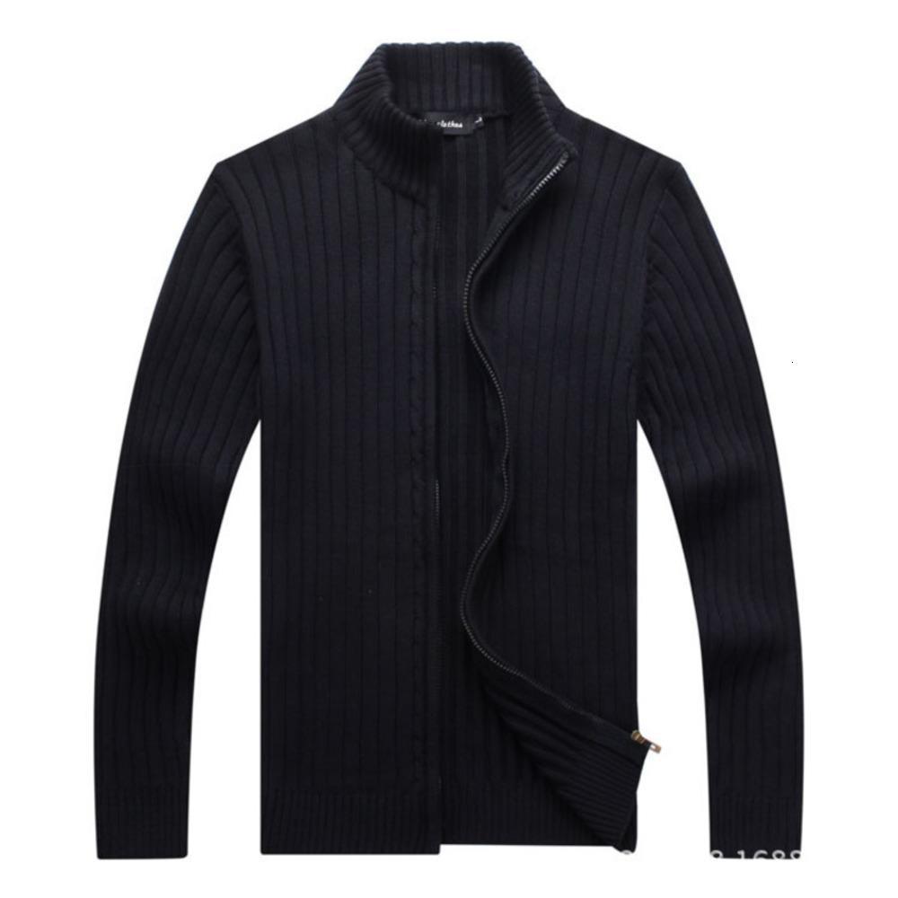 Outono e inverno zíper Cardigan tendência coreana magro casual casaco de camisola masculina