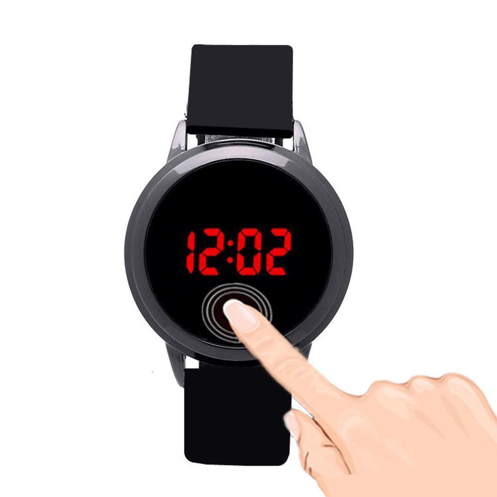 Электронные влюбленные Корейский Новый Светодиод Светодиодные Часы Сенсорный Скидка Мода Бюзины Мужские Часы
