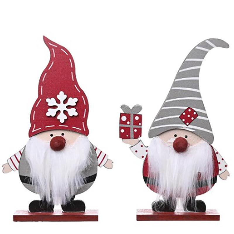 New Wooden Gift Box Old Man Decoration Forest Standing Old Man Desktop Christmas Decorations For Home Desktop Ornament