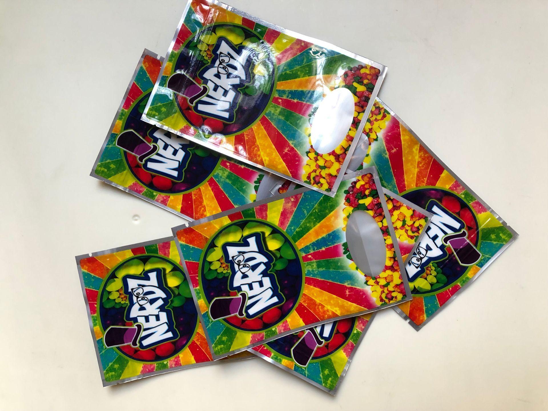 Candy Lokale Taschen Medikament Rainbow 3,5g Mylar Edibles Riechen Nerdz Taschen Beweis BBBYGY BBBYGYS LMEOQ