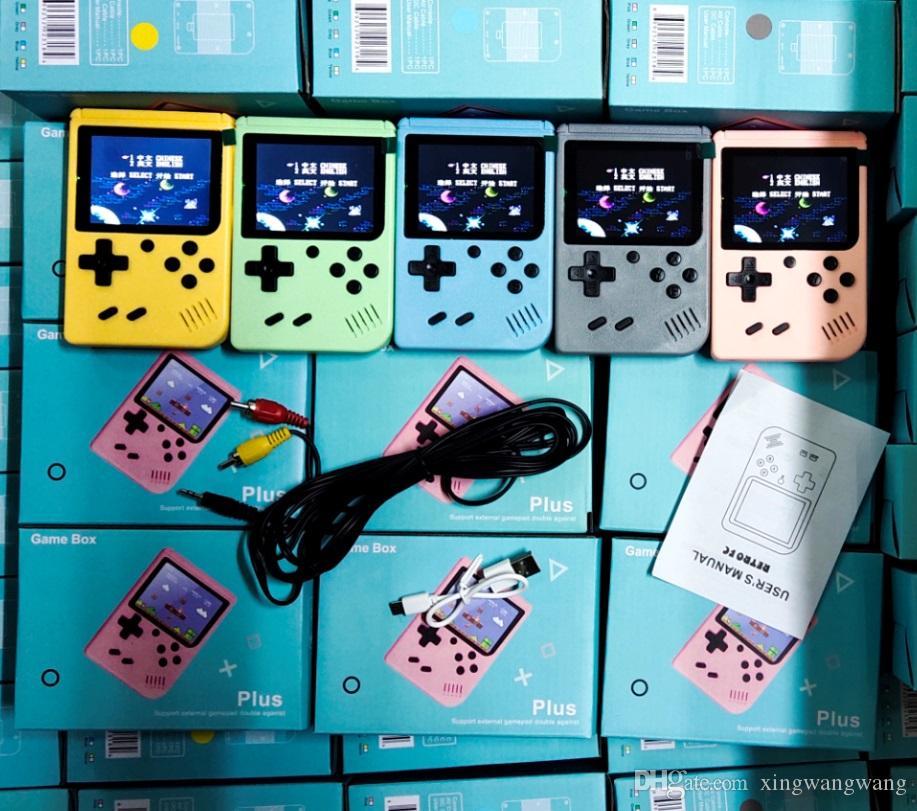 جديد المحمولة المحمولة لعبة فيديو وحدة التحكم ريترو 8 بت ميني لعبة اللاعبين 800 في 1 مباريات 3 بوصة ألعاب av مع لون lcd في المخزون