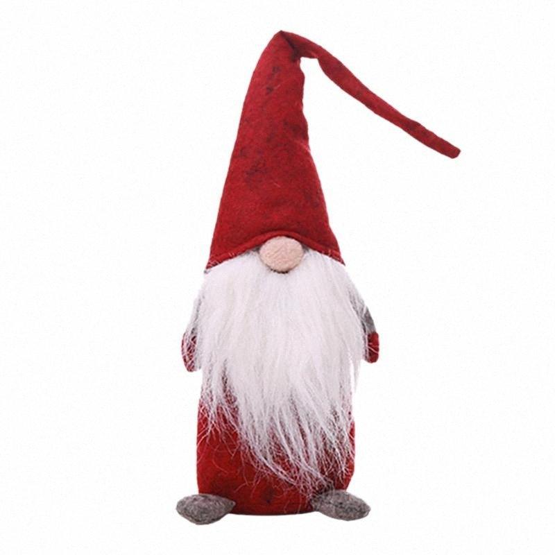 44cm de Navidad Viejo hombre sin rostro Párese regalos Festival de muñeca de juguete partido de cena de Año Nuevo Navidad Decoraciones para el Hogar Niños de Navidad juguete czdr #