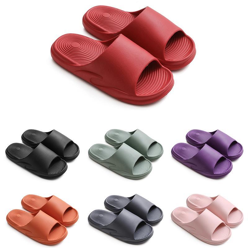 Shopper Shoe Outdoor Mulheres Mens Sandálias Slippers Espessado Casal Indoor Anti-Slip Preto Vermelho Rosa Rosa Home Sapatos