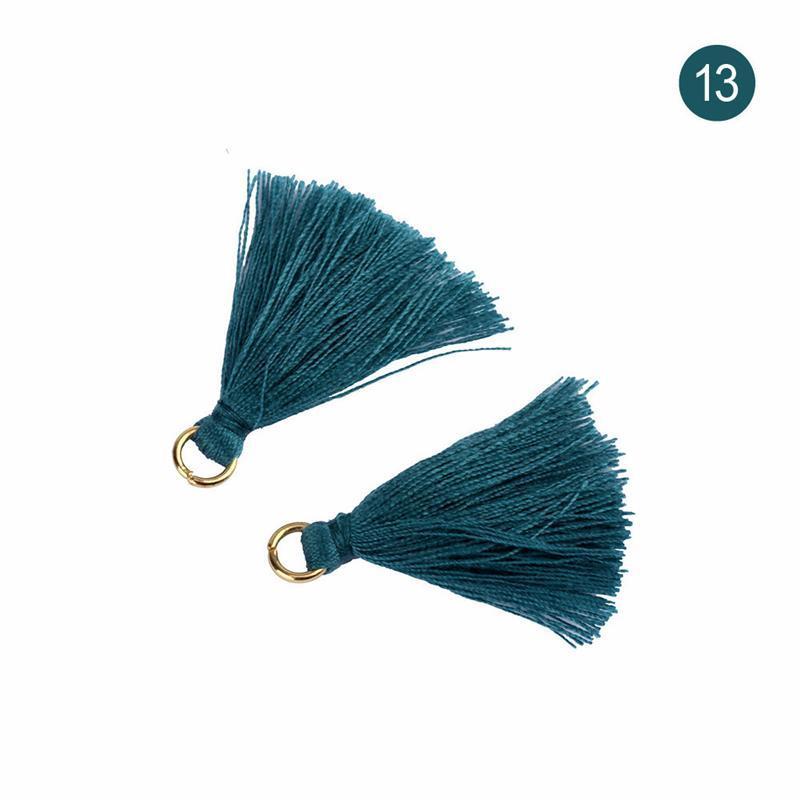 50 pcs 3.6cm mini anel de metal poliéster tecido de algodão tassel diy pingente jóias fazendo franja guarnição artesanato tassel costurar acessórios h bbyhpr