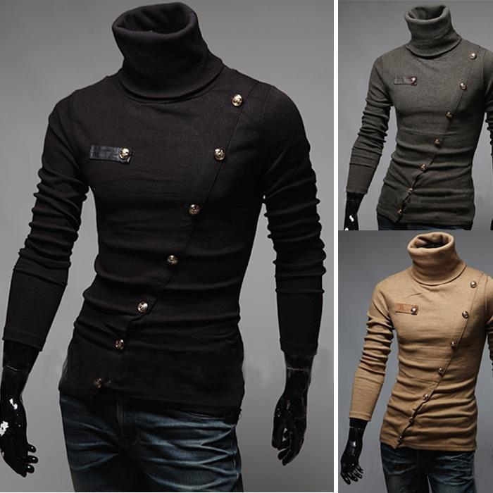 ZOGAA queda Mens camisola de manga longa gola Fina Lã Sólidos Pullovers Inglaterra Estilo Slim-fit Men Knitwear Roupa descontraída