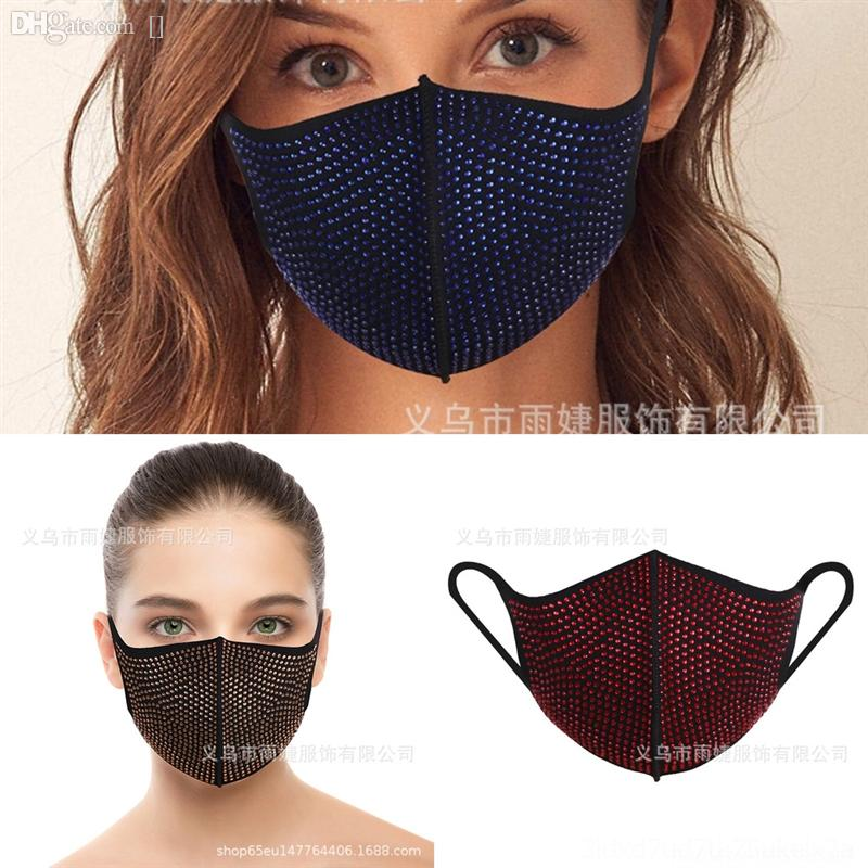 UQLM Siyah Kadınlar Dantel Göz Masquerade Karnaval Maskeleri Cadılar Bayramı Maskesi Venedik Kostümleri Yarasa Şekli Rhinestone Kırmızı
