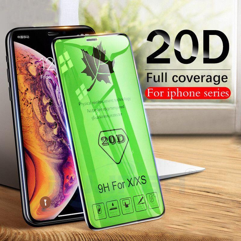 Protectores de pantalla de vidrio templado de la cobertura completa 20D para iPhone 12 MINI / PRO / PRO MAX 9H DURO NINGUNA Película protectora de la pantalla