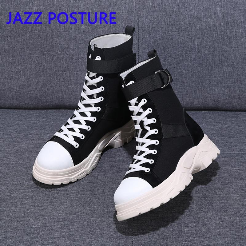2020 Autumn new women's Round Toe solid color round head Lace Up boots wild fashion Platform Flat with comfortable boots z249