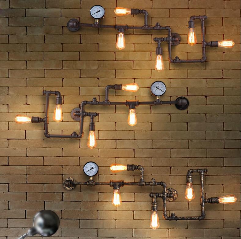 Loft Lamparas de Techo Colgante Moderna Bed Lámpara de pared Luz de cuello de cisne de cuello de cristal Cuerda de la cama de la cama Lámpara de pared del pasillo