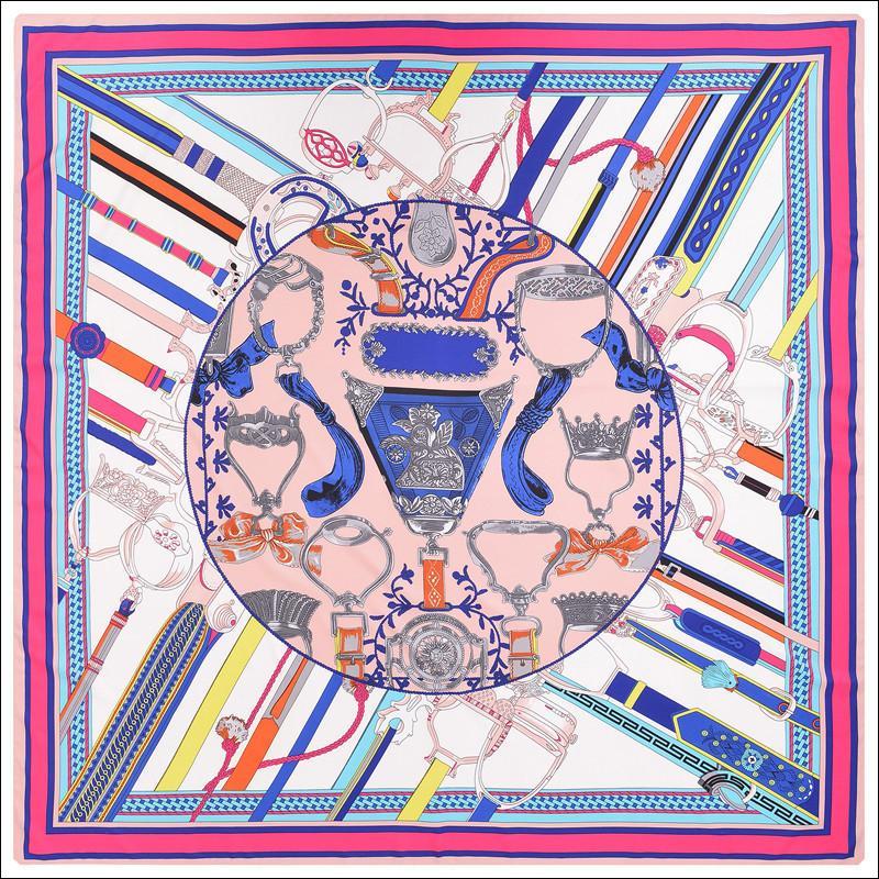 Écharpe à col de soie Châles Foulards Foulard Fleur Femme Vintage Twill Mulberry Châles Dropshipping 130 130
