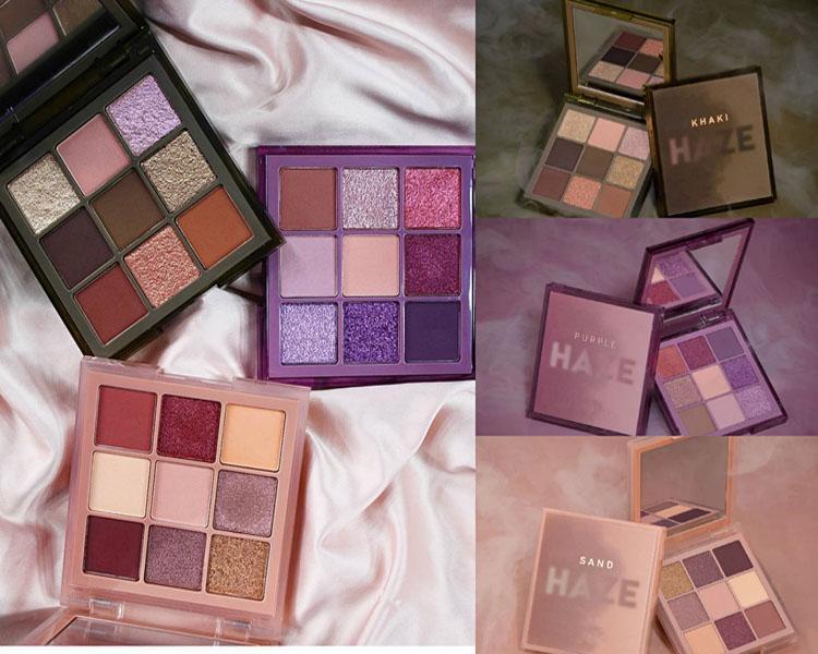 Brand HAZE purple sand khaki 9color eyeshadow palette Shimmer Matte high quality