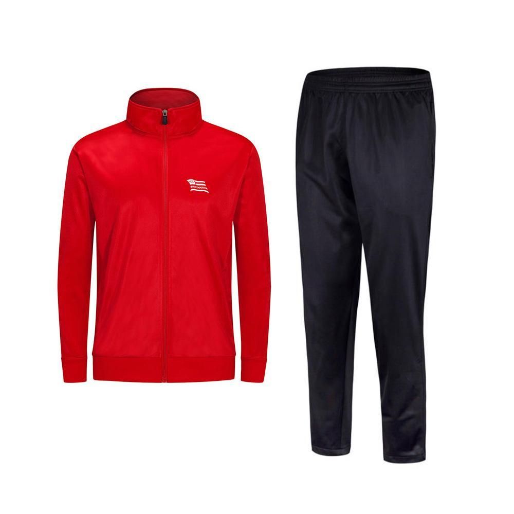 2021 KS CRACOVIA Новый стиль футбол мужская куртка с брюками спортивная одежда футбольный трексуит взрослых детская одежда набор