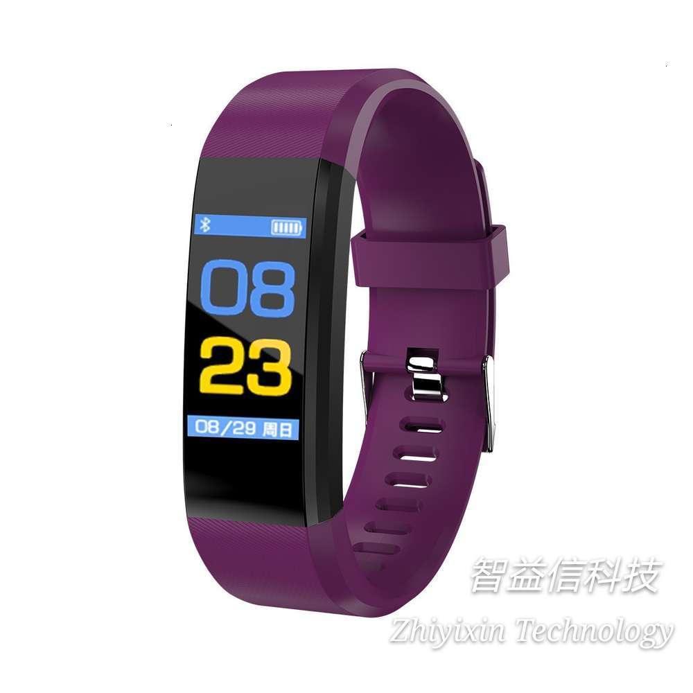 Nueva pulsera inteligente de pantalla de color 115plus, movimiento, impermeable, paso, cinturón síncrono de Bluetooth, ritmo cardíaco y prsure giftbgt