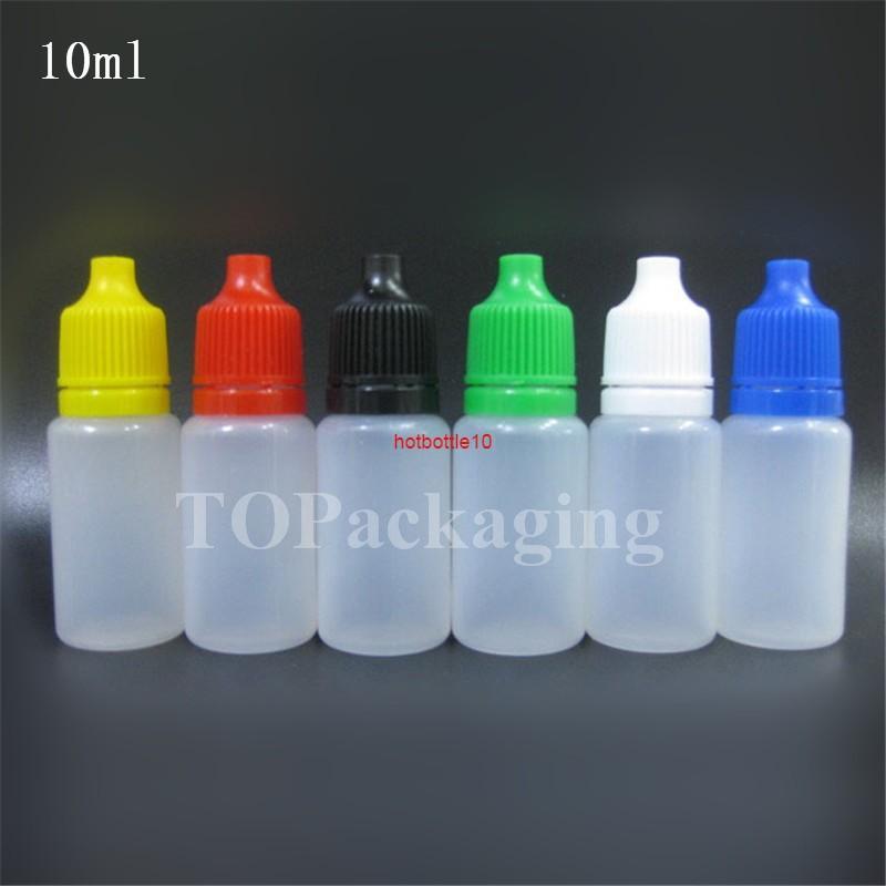 جديد 10 ملليلتر فارغة pe البلاستيك القابل للقطارة القذارة زجاجة العين قطرات موزع السائل مخزن صغير الضغط زجاجات الضغط