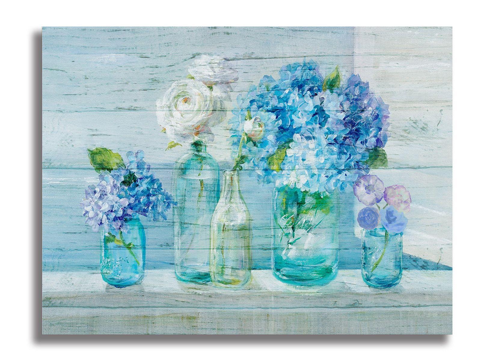 Résumé Wall Art coloré de toile de fleur impressions photo Floral Wall Salle de bain Cuisine Salle à manger Décor Chambre