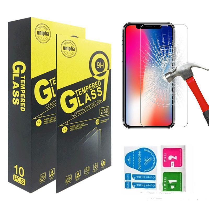 Para iPhone 12 Película protectora de pantalla de vidrio templado 0.26mm 9h 2.5D para iPhone 11 Pro Max 11 Pro X XR XS MAX 8 7 6S PLUS 5S