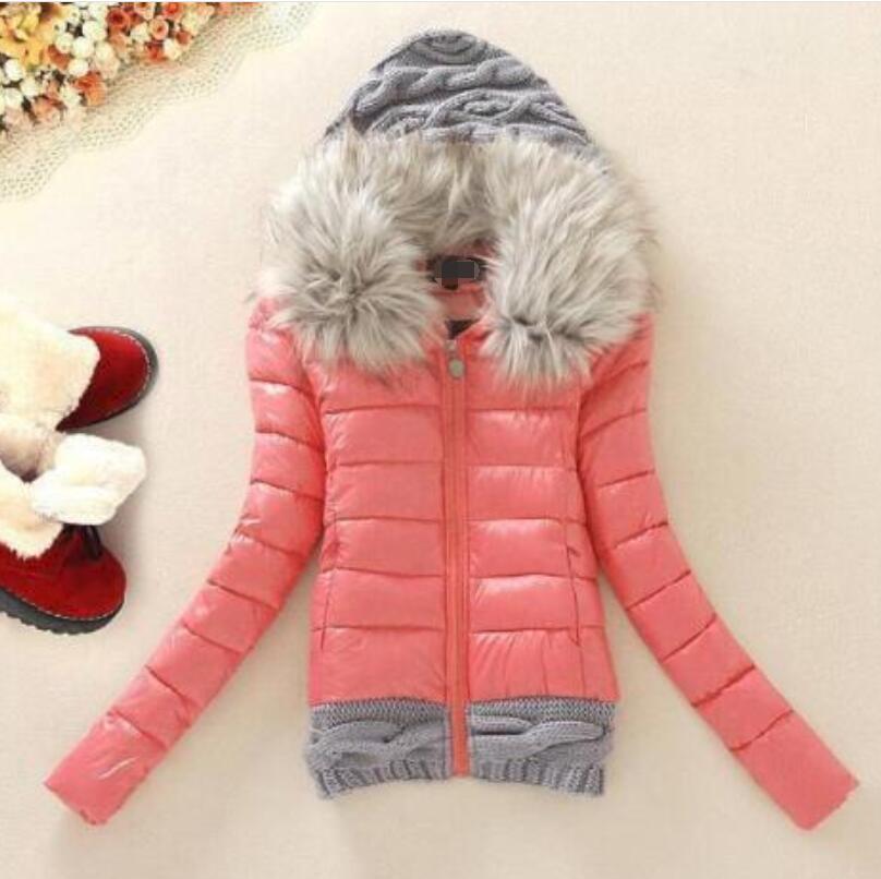 cappotti 2020 delle donne scaldano grande collo di pelliccia di formato incappucciato giù il cappello di lana batuffolo di cotone femminili giacche 4XL slim fit capispalla giovani