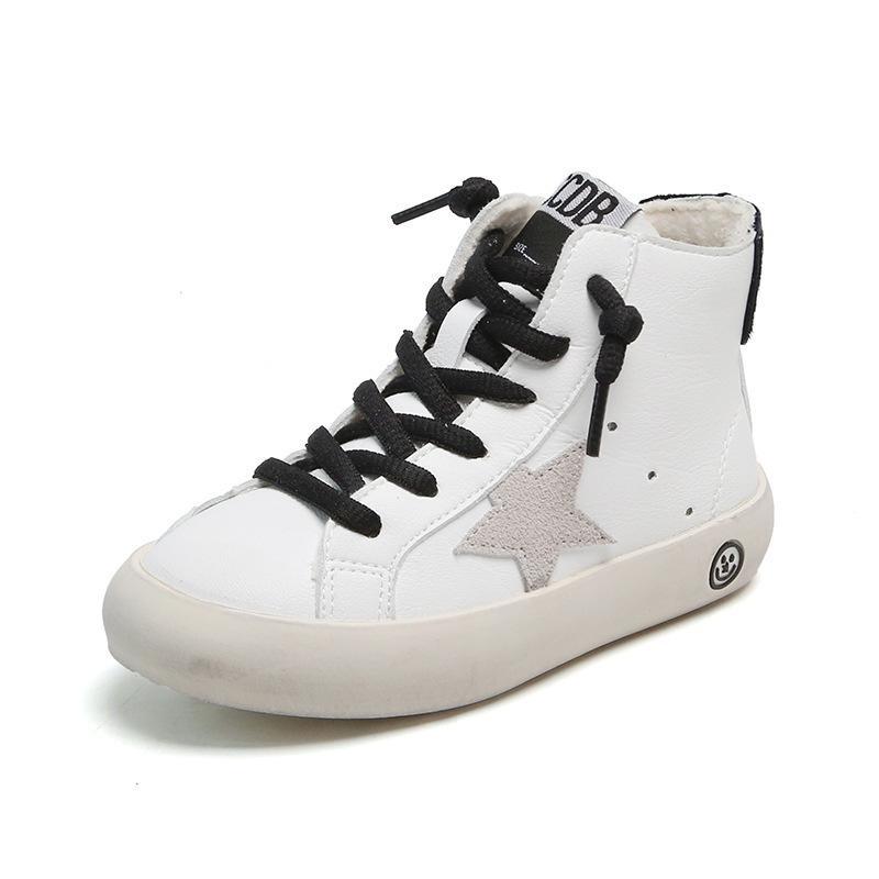 Niños de invierno zapatos niña niño cuero genuino zapatillas de deporte botas bebé niño pequeño botas nieve deporte botas suave inferior cálido niño zapato casual 1029