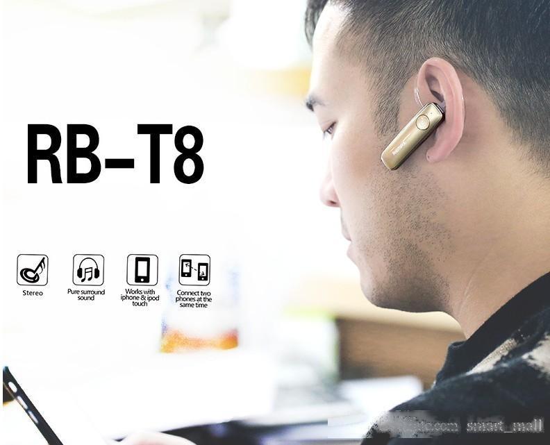 Remax T8 Bluetooth 4.1 Sport Casque casque sans fil Micro-casques écouteurs Outtdoor sport écouteurs Pour iPhone6 / 5s / 5 Sumsung LG LLFA