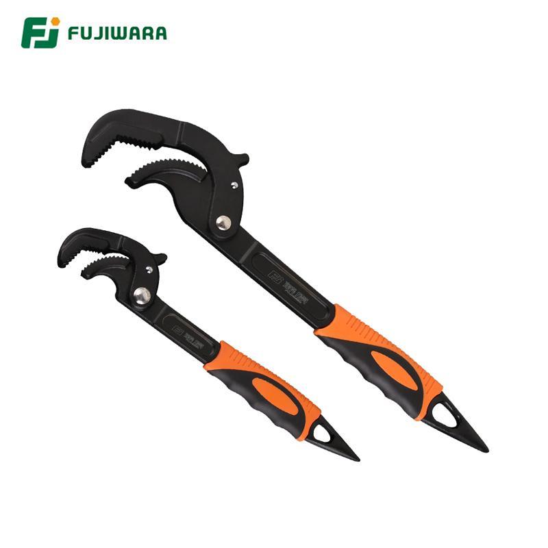 Universale rapida Pipe Wrench FUJIWARA Auto Regolazione Pipe Wrench Set con corpo in ghisa (2 Pezzi) 14-30mm 30-60mm