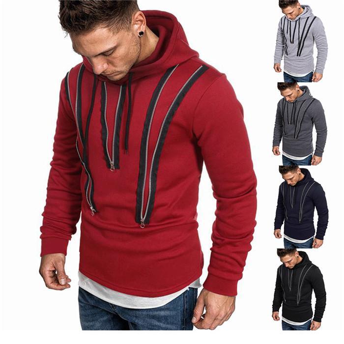 Gevşek Kapşonlu Sweatshirt Erkek Tasarımcı Uzun Kollu Kazak Spor kapşonlu hırka Fermuar Desen Sonbahar Kış Erkek Giyim