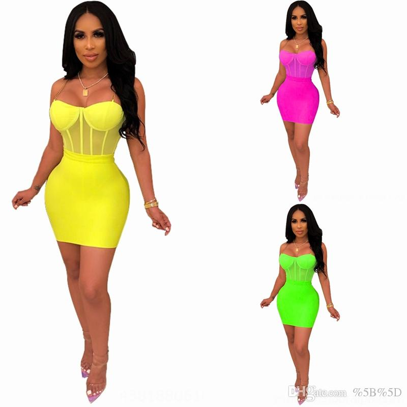 8O81 Strapless Crop Top Due uscite Due Abiti da torta Due Abiti Pie Spalato Desidens Sexy Desinger TwoDress Dress Moda colore naturale