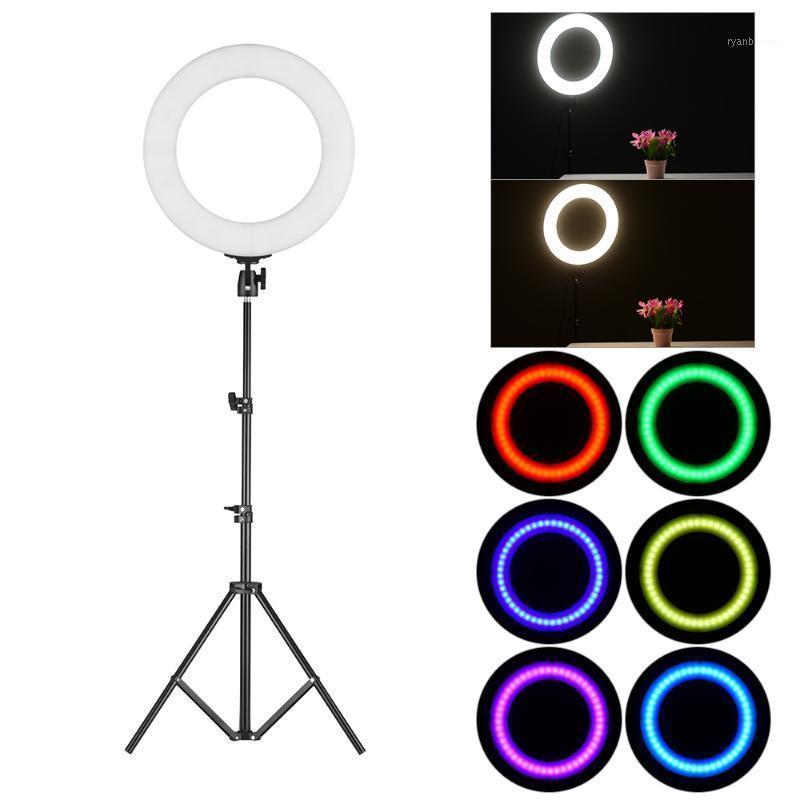 """14 """"Lampe Vidéo LED Lampe Photo Studio photographie Éclairage luminosité réglable 3200-7000K Température de couleur avec trépied Stand1"""