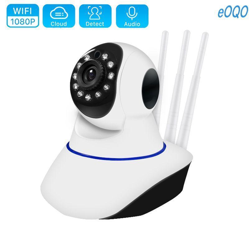 Telecamere 720p 1080p Home Security IP Camera IP Dual Antenna WiFi Audio Record 360 gradi Baby Monitor HD Mini