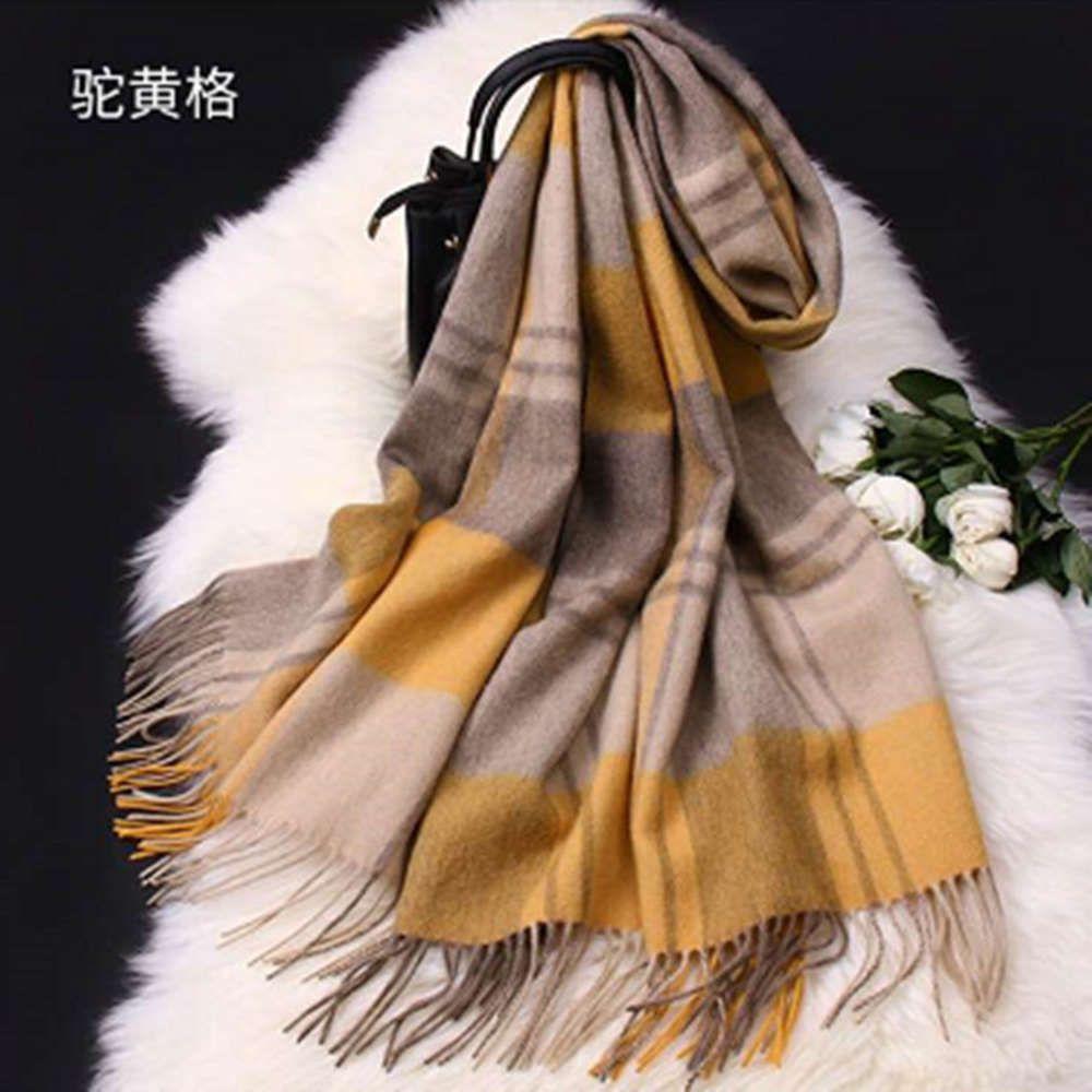 Mode japonais et coréen Belle foulard en laine de style, châle chaude chaude