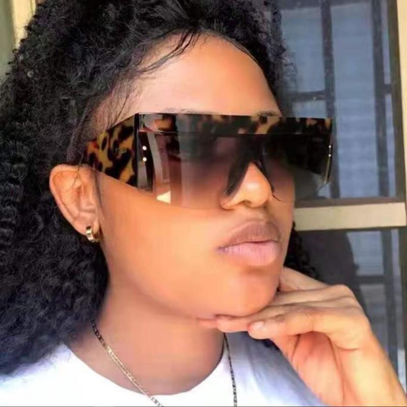 Роскошные оттенки для женщин Белые квадратные солнцезащитные очки 2021 дизайнер вдохновил полузащитные солнцезащитные очки торговые уличные модные очки