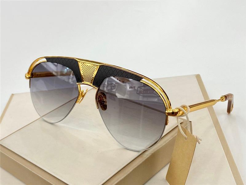 UV Koruma ile Challenger Moda Güneş Gözlüğü Erkekler Için Vintage Oval Yarım Çerçeve Popüler En Kaliteli Case Klasik Güneş Gözlüğü Ile Gel