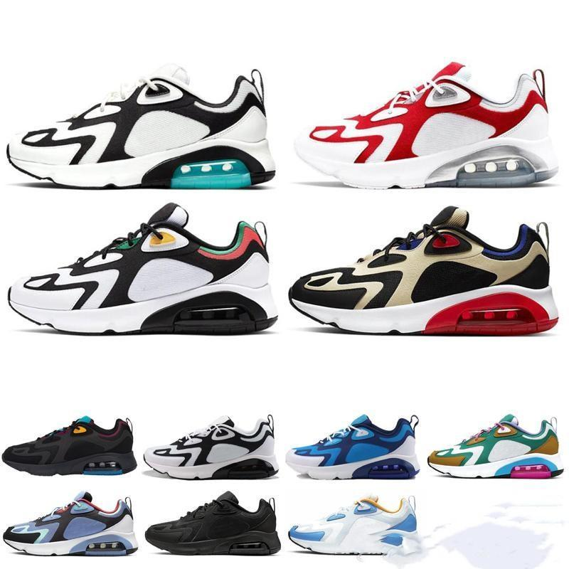 2020 latest Teal Bordeaux Running Shoes for Men Mystic Green White Gold 200s Mens desinger Sneakers Trainers des chaussures Homme