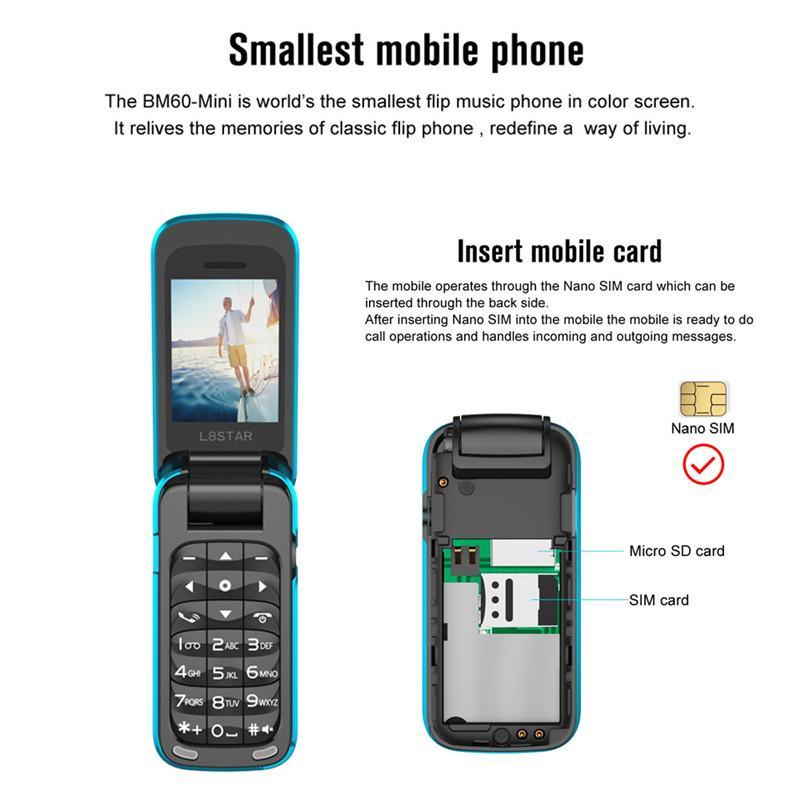 2020 New Keypad Phone,Mini Unlocked Cell Phone Dual-Band 1.3 inch Keypad Phone Dual SIM 4500Mah Battery Mobile Phone Smartphone,300mAh Big Capacity Battery Red