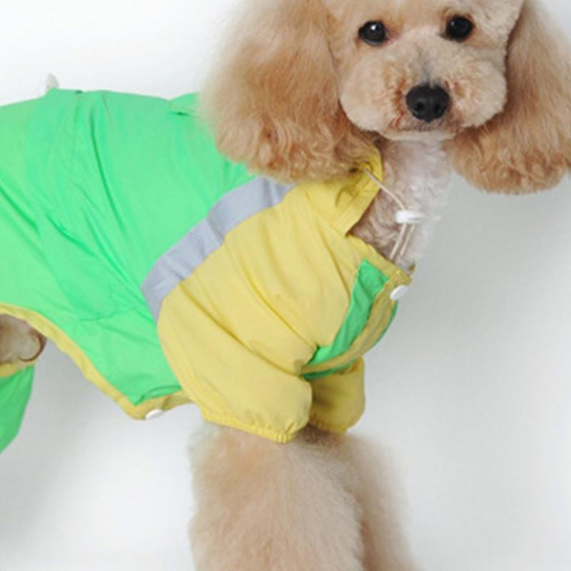 Dog Apparel Large Clothes Raincoat Waterproof Suits Dot Rain Cape Pet Clothing For Big Dogs Hooded Jacket Poncho Coat