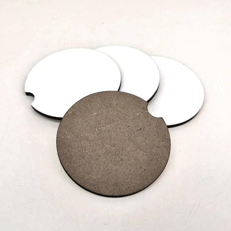Sublimation en bois MDF Vierge Coasters Coasters Tapis d'impression à chaud avec liège et Nonslip WB3460