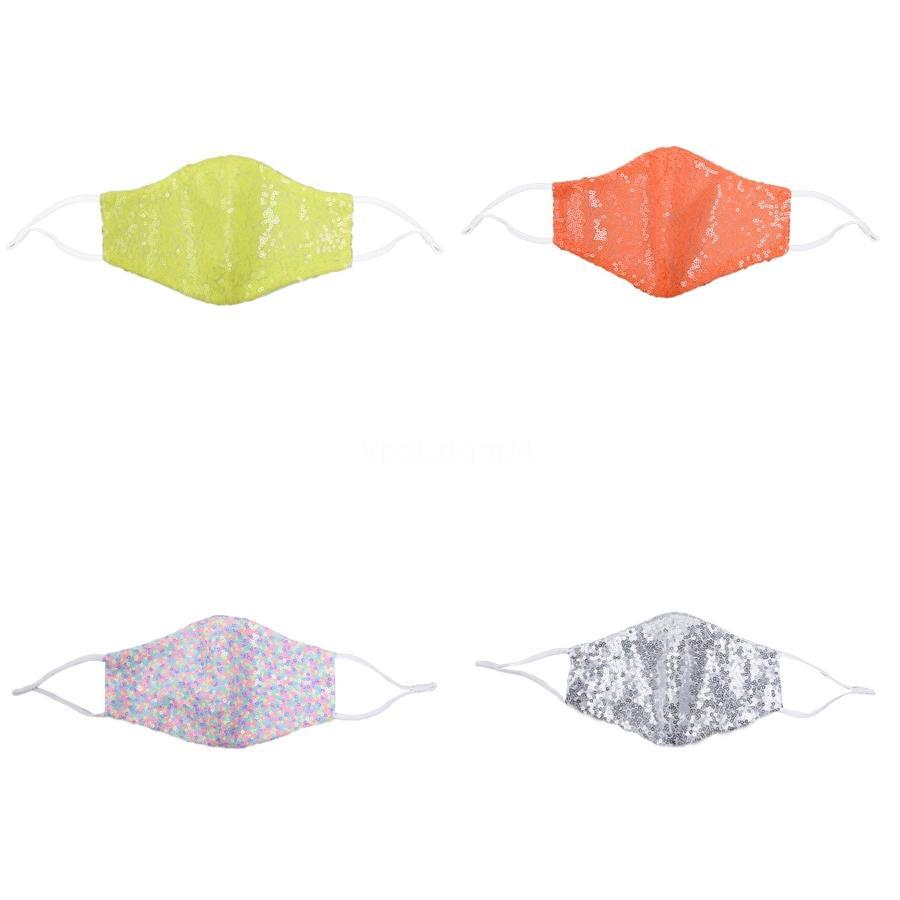 Bling WashableFace Mask Paillettes antipolvere Maschere Designer Viso Maschere viso ColorfulAdult YYA330 # 839 # 258