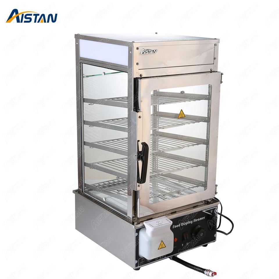 KA500L 110V 220V de acero inoxidable eléctrica rodeado de vidrio templado commerical vapor bollo máquina para hacer pan pan vapor