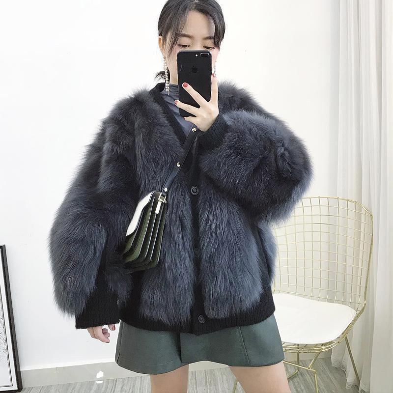 Giyim Coat Bayan Kış 2020 Koreli Zarif Gerçek Ceket Kadınlar Streetwear Sıcak Kürk 202.010 Hiver Tops