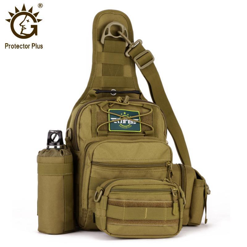 Hand Plus Tasche Schulter Protector Outdoor Militärische taktische Wasserdichte Männer Molle Messenger Brust Farbe Nylon 2 Rucksack Abwvr