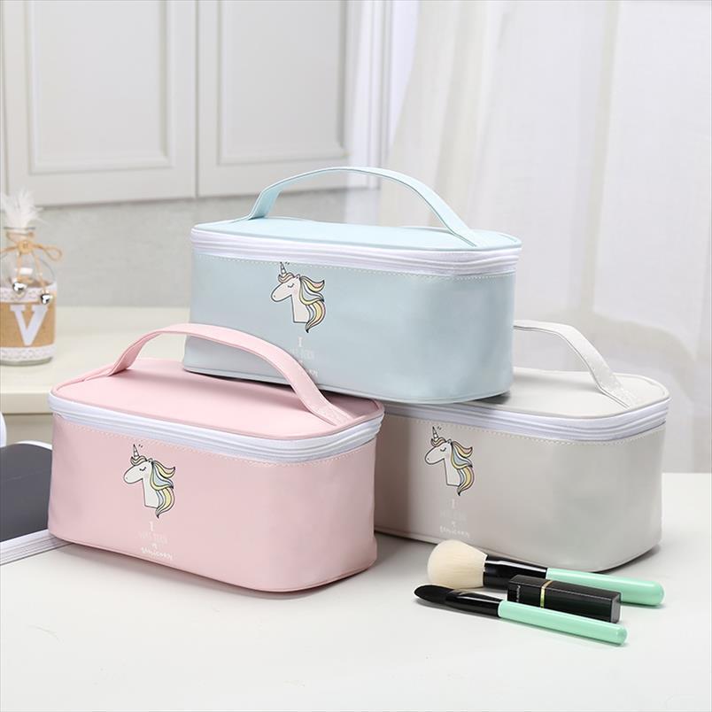 Quadrado Novo Unicórnio Multi Handheld Bag Makeup Functional Kits Ao Ar Livre Bag Portable Grande 2020 Beleza Cosmética Heartry Travel Okcgc
