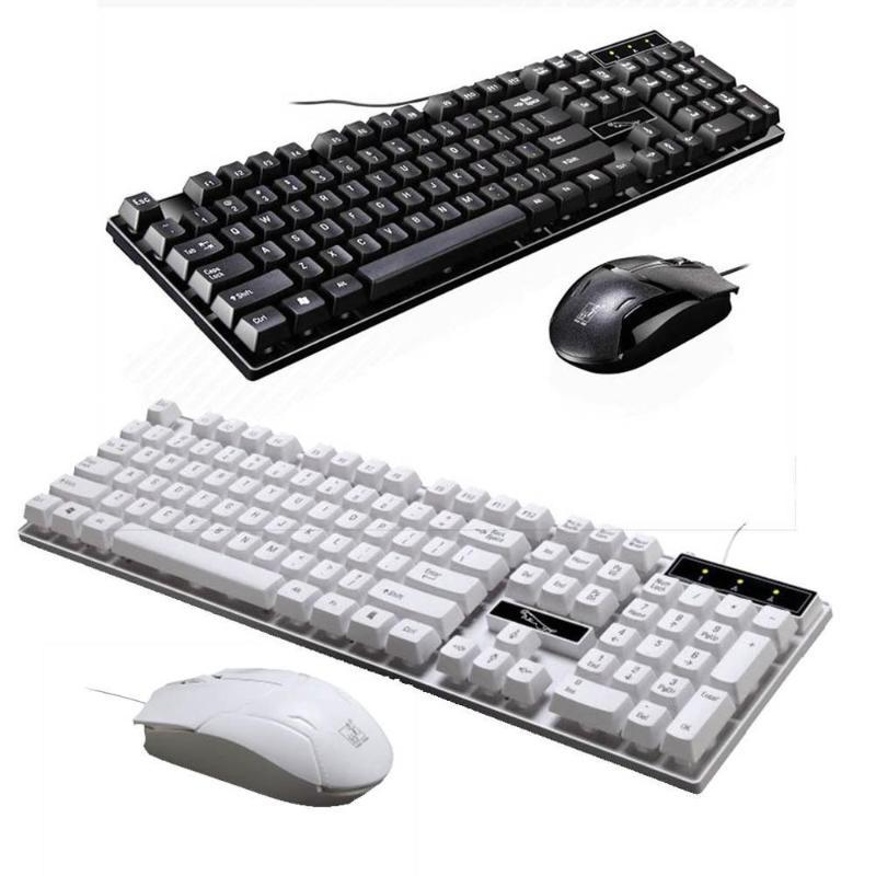 Universale tastiera e mouse set installato USB Wired Keyboard computer laptop accessori per PC desktop per ufficio