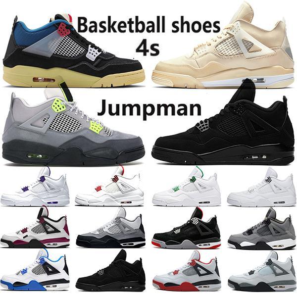 air jordan 4 Neueste 4 4 s Basketball Schuhe Männer OG Bred Für 2019 Kaktus Jack Houston Oilers Weiß Zement Mens Designer Trainer Sport Turnschuhe Größe