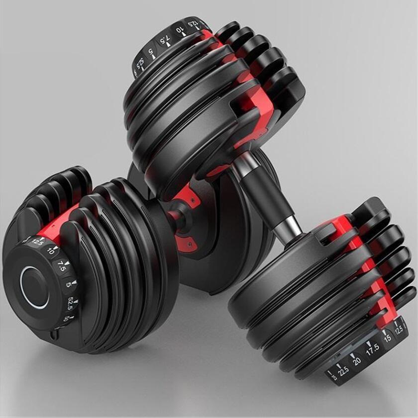 2020 الولايات المتحدة STOCK الوزن قابل للتعديل الدمبل 5-52.5lbs للياقة البدنية التدريبات الدمبل هجة قوتك وبناء العضلات